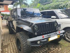 Black Jeep Wrangler 2016 Automatic Gasoline for sale
