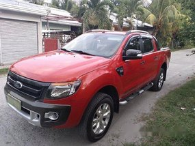 Selling Orange Ford Ranger 2013 Automatic Diesel at 100000 km