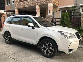 Sell White 2014 Subaru Forester Automatic Gasoline at 44000 km