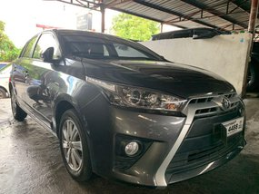 Gray Toyota Yaris 2016 for sale in Quezon City