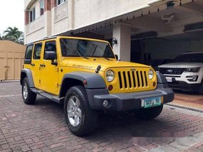 Yellow Jeep Wrangler 2011 Automatic Gasoline for sale