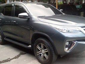 Sell Grey 2018 Toyota Fortuner at 24000 km