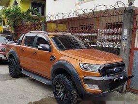 Selling Orange Ford Ranger 2016 at 21000 km
