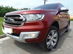 Red Ford Everest 2017 Automatic Diesel for sale