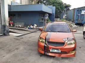 Orange Toyota Vios 2004 at 96000 km for sale