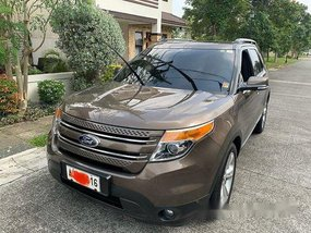 Brown Ford Explorer 2015 Automatic Gasoline for sale