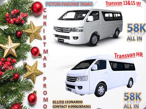 2019 Foton View Transvan and Transvan HR