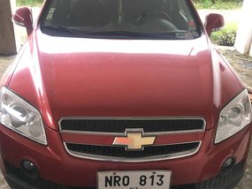 Red Chevrolet Captiva 2011 for sale in Quezon City