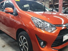 Sell Orange 2019 Toyota Wigo in Quezon City