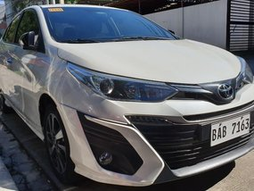 Pearlwhite Toyota Vios 2019 for sale in Quezon City