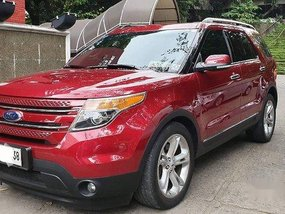 Selling Red Ford Explorer 2014 Automatic Gasoline