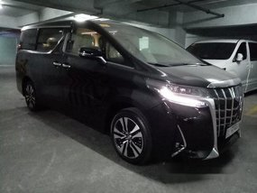 Black Toyota Alphard 2019 Automatic Gasoline for sale