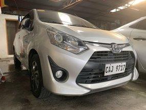 Silver Toyota Wigo 2018 for sale in Quezon City