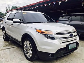 Pearl White Ford Explorer 2013 for sale in Mandaue