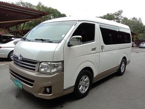 Pearl White Toyota Hiace 2013 for sale in Manila