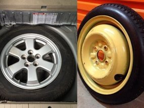 "The difference between full-size and temporary or ""donuts"" spare tires"