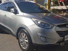 Silver Hyundai Tucson 2014 for sale in Automatic
