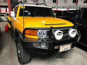 Yellow Toyota Fj Cruiser 2016 for sale in Quezon City
