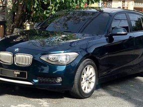 Selling Blue Bmw 118D 2013 in Quezon City