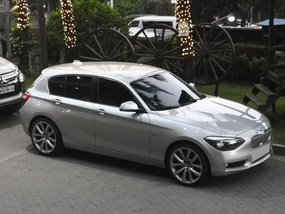 Pearl white Bmw 118I 2013 for sale in Muntinlupa