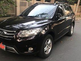 Black Hyundai Santa Fe 2012 for sale in Automatic