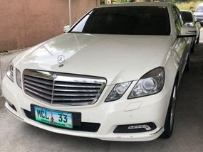 White Mercedes-Benz E-Class 2010 for sale in Manila
