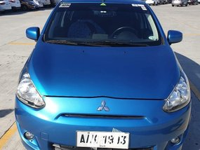 Blue Mitsubishi Mirage 2015 for sale in Malabon
