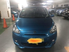 Blue Mitsubishi Mirage 2015 for sale in Automatic