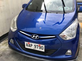 Blue Hyundai Eon 2014 for sale in Manual