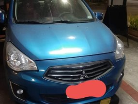 Blue Mitsubishi Mirage 2015 for sale in Manual