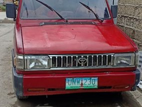 Red Toyota tamaraw 1996 for sale in Manual