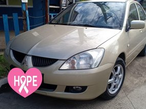 Beige Mitsubishi Lancer 2005 for sale in Muntinlupa
