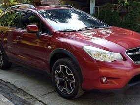 Red Subaru Xv 2013 at 56000 km for sale