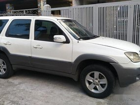 Sell White 2008 Mazda Tribute at 74000 km