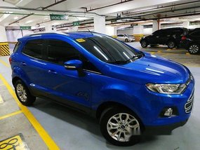 Blue Ford Ecosport 2015 Automatic for sale