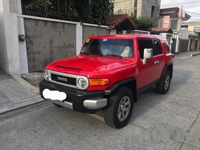 Red Toyota Fj Cruiser 2018 Automatic for sale