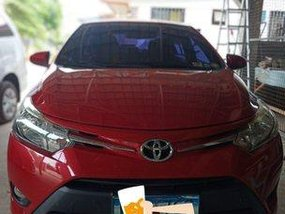 Red Toyota Vios 2013 Manual for sale