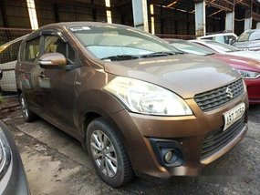 Brown Suzuki Ertiga 2015 for sale in Quezon City