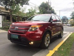 Selling Red Ford Explorer 2013 in Makati