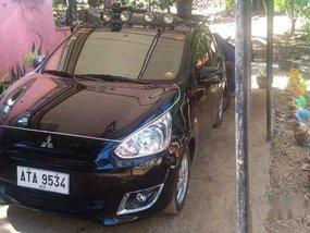 Selling Black Mitsubishi Mirage 2015 Manual Gasoline