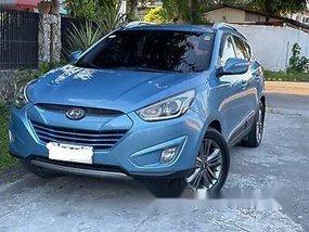 Sell Blue 2014 Hyundai Tucson at 100000 km