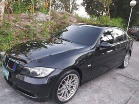 Black Bmw 320I 2007 Automatic Gasoline for sale