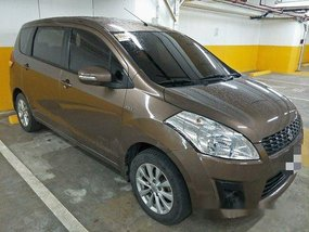 Selling Brown Suzuki Ertiga 2015 in Quezon City