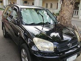 Black Toyota Rav4 2004 Manual for sale