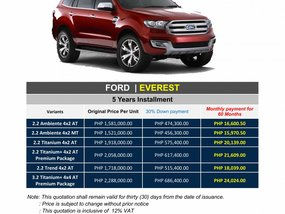 Brand New 2020 Ford Everest - WE CATER ALL BRANDS AND VARIANTS