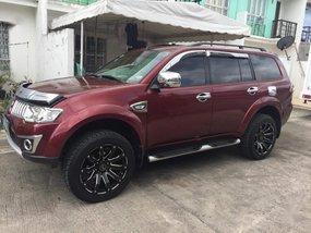 Red Mitsubishi Montero 2013 for sale in Quezon