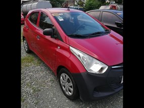 Red Hyundai Eon 2014 Hatchback for sale in Manila