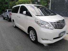 White Toyota Alphard 2011 for sale in Manila