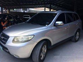 Grey Hyundai Santa Fe 2008 for sale in Quezon City