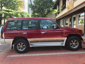 Red Mitsubishi Pajero 2003 for sale in Quezon City